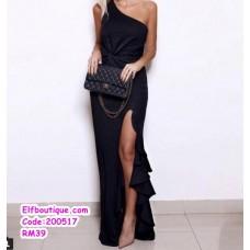 200517 Woman Elegant Night Wear Dress Budget Material