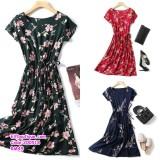 200518 Woman Printed Floral Beach Wear Dress Plus Size XL-4XL