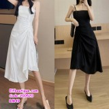200520 Woman Sexy Sleeveless Irregular Dress