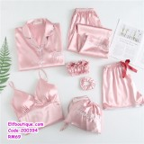 200394 Woman 7Pcs Pyjamas Set