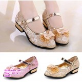 191014 Baby Little Girl Cute Princess Shoes Gold/Pink