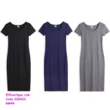 200422 Woman Quality Short Sleeve Round Neck Office Ladies Wear
