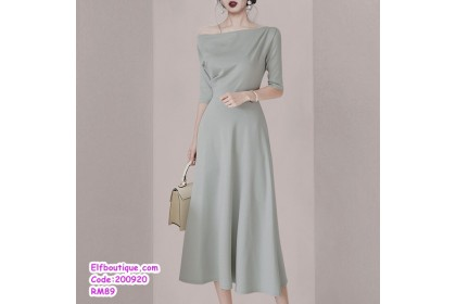 200920 Woman Sexy Short Sleeve Slim Fit Off Shoulder Dress