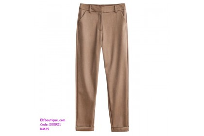 200921 Woman OL High Waist Slim Fit Formal Long Pants
