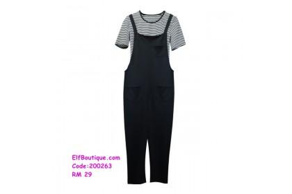 200263 READY STOCK Woman Short Sleeve Jumpsuit