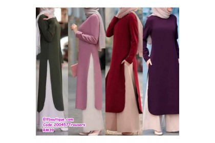 200457  Muslimah Trousers Only Casual Wear