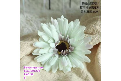 201294 READY STOCK Artificial Flower Daisy Fabric Flower Home Decoration White/Pink/Green/Peach/Purple