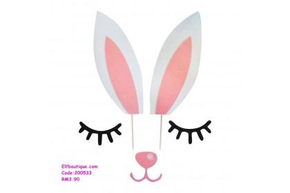 200533  READY STOCK Rabbit Cartoon Cake Decoration Set