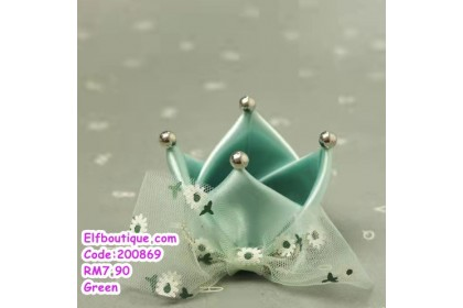 200869 READY STOCK Baby Girl Cute Lacey Crown Hair Clip