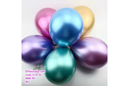 210132 READY STOCK Party Decoration Metallic Rubber Balloon Pack