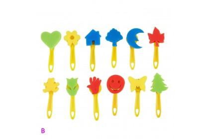 210146 READY STOCK Children Drawing Colouring Art Brush Spounge Brush