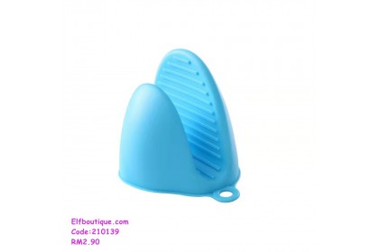 210139 READY STOCK Extra Thick Silica Gel Glove Clip Baking Cooking Use Blue/Pink